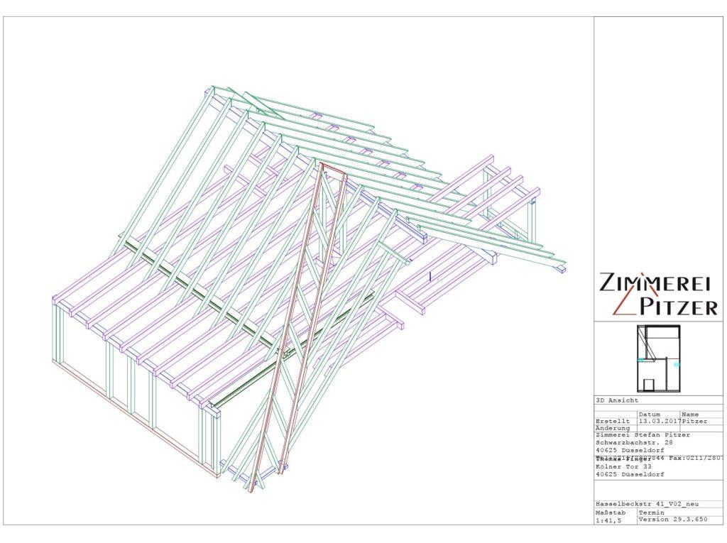 Planungsskizze von Zimmerei Pitzer